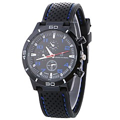 preiswerte Damenuhren-Xu™ Damen Sportuhr / Armbanduhr Chinesisch Kreativ / Armbanduhren für den Alltag / Cool Silikon Band Freizeit / Modisch Schwarz / Weiß / Blau