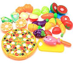 abordables Juegos de imaginación-Juegos de Rol Comida Fruta Interacción padre-hijo Carcasa de plástico Preescolar Todo Chico Chica Juguet Regalo 24 pcs