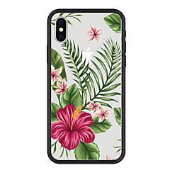 Недорогие Кейсы для iPhone 6-Кейс для Назначение Apple iPhone X / iPhone 8 Plus С узором Кейс на заднюю панель Растения / Мультипликация / Цветы Твердый Акрил для iPhone X / iPhone 8 Pluss / iPhone 8