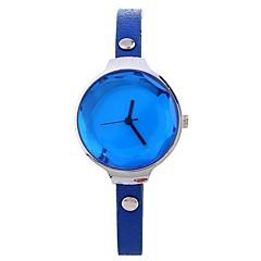 お買い得  レディース腕時計-Xu™ 女性用 ドレスウォッチ / リストウォッチ 中国 クリエイティブ / カジュアルウォッチ / 大きめ文字盤 PU バンド カジュアル / ファッション ブラック / ブルー / レッド