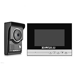 abordables Sistemas de Control de Acceso-xinsilu security 7inch videoportero con sistema de control de acceso de la puerta de intercomunicación del timbre del teléfono de la puerta xsl-v70r-lblack color cámara al aire libre