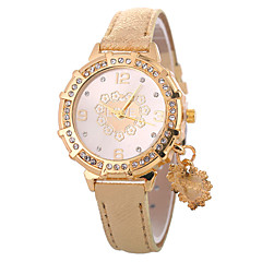 お買い得  レディース腕時計-Xu™ 女性用 ドレスウォッチ / リストウォッチ 中国 クリエイティブ / カジュアルウォッチ / かわいい PU バンド Heart Shape / ファッション ブラック / 白 / ブルー