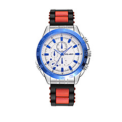 preiswerte Damenuhren-Damen Armbanduhr Armbanduhren für den Alltag Silikon Band Modisch Schwarz / Blau / Rot
