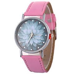 billiga Damklockor-Xu™ Dam Frackur / Armbandsur Kinesiska Kreativ / Vardaglig klocka / Diamant Imitation PU Band Blomma / Mode Svart / Vit / Blå