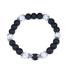 preiswerte Armbänder-Damen Skulptur Strang-Armbänder - Künstliche Perle Retro, Modisch Armbänder Schwarz Für Alltag / Büro & Karriere