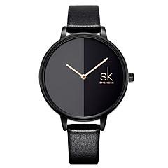 お買い得  レディース腕時計-SK 女性用 リストウォッチ 日本産 日本産クォーツ 30 m 耐水 耐衝撃性 PU バンド ハンズ ファッション ブラック - ブラック 2年 電池寿命