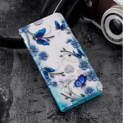 Недорогие Кейсы для iPhone 5-Кейс для Назначение Apple iPhone X / iPhone 8 Plus Кошелек / Бумажник для карт / со стендом Чехол Бабочка Твердый Кожа PU для iPhone X /
