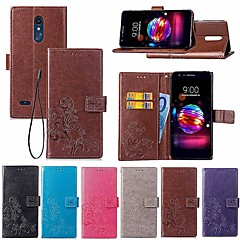 Недорогие Чехлы и кейсы для LG-Кейс для Назначение LG LG Q7 / Q6 Кошелек / Бумажник для карт / со стендом Чехол Мандала / Бабочка Твердый Кожа PU для LG V30+ / LG V20 / LG K10 2018