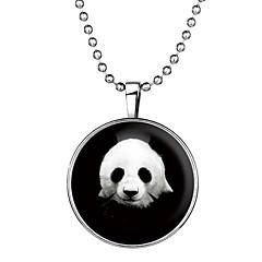 preiswerte Halsketten-Damen Leuchtender Stein Lang Anhängerketten - Panda Zeichentrick, Modisch Blau 60 cm Modische Halsketten Schmuck 1pc Für Halloween, Klub