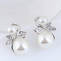 preiswerte Ohrringe-Damen Skulptur Ohrstecker - Künstliche Perle Europäisch, Modisch, Elegant Gold / Silber Für Alltag