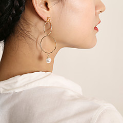 preiswerte Ohrringe-Damen Lang Kreolen - Künstliche Perle Stilvoll, Koreanisch, Elegant Gold / Silber Für Geschenk / Verabredung