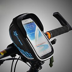 abordables Bolsas para Bicicleta-ROCKBROS Bolso del teléfono celular / Bolsa para Cuadro de Bici Pantalla táctil, Impermeable, Ligero Bolsa para Bicicleta TPU / EVA / Poliéster Bolsa para Bicicleta Bolsa de Ciclismo Ciclismo