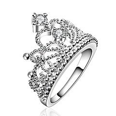 preiswerte Ringe-Damen 3D Bandring - Kupfer, Strass, versilbert Kreativ Einzigartiges Design, Klassisch 7 / 8 Silber Für Alltag Arbeit
