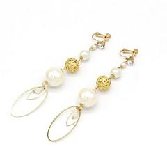 preiswerte Ohrringe-Damen Synthetischer Diamant Klips - Tropisch, Elegant Golden Für Party / Party / Abend