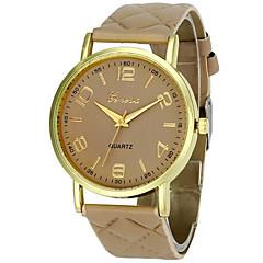 お買い得  メンズ腕時計-男性用 リストウォッチ クォーツ クロノグラフ付き 愛らしいです レザー バンド ハンズ バングル 多色 ブラック / 白 / レッド - レッド グリーン ピンク 1年間 電池寿命