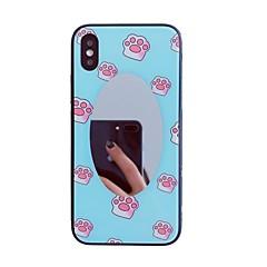 Недорогие Кейсы для iPhone-Кейс для Назначение Apple iPhone X С узором Кейс на заднюю панель Мультипликация Твердый Закаленное стекло для iPhone X / iPhone 8 Pluss / iPhone 8
