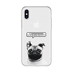 Недорогие Кейсы для iPhone 5-Кейс для Назначение Apple iPhone X / iPhone 8 Plus С узором Кейс на заднюю панель Животное Мягкий ТПУ для iPhone X / iPhone 8 Pluss / iPhone 8