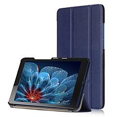 abordables Fundas para Tableta-Cuero de PU Un Color Casos Tablet Lenovo