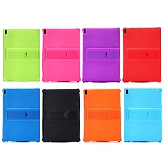 cheap Cases / Covers for Lenovo-Case For Lenovo Tab 4 10 Plus / Tab 4 10 Shockproof / with Stand Back Cover Solid Colored Soft Silicone for Lenovo Tab 4 10 Plus / Lenovo Tab 4 10