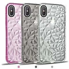 Недорогие Кейсы для iPhone X-Кейс для Назначение Apple iPhone X / iPhone 8 Plus Покрытие / Зеркальная поверхность / Прозрачный Кейс на заднюю панель Однотонный Мягкий ТПУ для iPhone X / iPhone 8 Pluss / iPhone 8