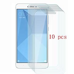 Недорогие Защитные плёнки для экранов Xiaomi-Защитная плёнка для экрана для XIAOMI Xiaomi Redmi Note 4 Закаленное стекло 10 ед. Защитная пленка для экрана Уровень защиты 9H / Защита от царапин