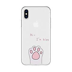 お買い得  iPhone 5S/SE ケース-ケース 用途 Apple iPhone X / iPhone 8 Plus パターン バックカバー ワード/文章 / 動物 / カートゥン ソフト TPU のために iPhone X / iPhone 8 Plus / iPhone 8