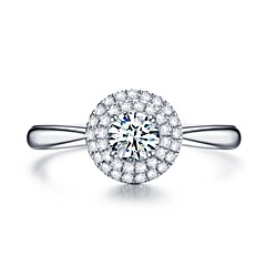 preiswerte Ringe-Damen Kubikzirkonia Stapel Ring / Verlobungsring - Platiert Silber Für Verlobung / Geschenk
