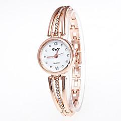お買い得  レディース腕時計-女性用 リストウォッチ クォーツ カジュアルウォッチ 合金 バンド ハンズ ファッション ミニマリスト ゴールド - ゴールド