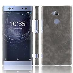 Недорогие Чехлы и кейсы для Sony-Кейс для Назначение Sony Xperia XA2 Ultra / Xperia XZ2 Premium Матовое Кейс на заднюю панель Однотонный Твердый Кожа PU для Xperia XZ2 / Sony Xperia XZ2 Premium / Xperia XA2 Ultra