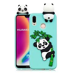 お買い得  Huawei Pシリーズケース/ カバー-ケース 用途 Huawei P20 Pro / P20 lite DIY バックカバー パンダ ソフト TPU のために Huawei P20 / Huawei P20 Pro / Huawei P20 lite / P10 Lite / P10