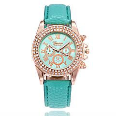 preiswerte Damenuhren-Damen damas Armbanduhr Quartz Armbanduhren für den Alltag PU Band Analog Modisch Schwarz / Weiß / Blau - Blau Rosa Leicht Grün