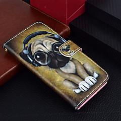 Недорогие Кейсы для iPhone-Кейс для Назначение Apple iPhone X / iPhone 8 Plus Кошелек / Бумажник для карт / со стендом Чехол С собакой Твердый Кожа PU для iPhone X / iPhone 8 Pluss / iPhone 8