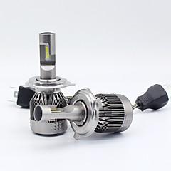 Недорогие Автомобильные фары-SO.K 2pcs 9003 / H10 / 9004 Автомобиль Лампы 30 W Интегрированный LED / COB 8000 lm 2 Светодиодная лампа Налобный фонарь Все года