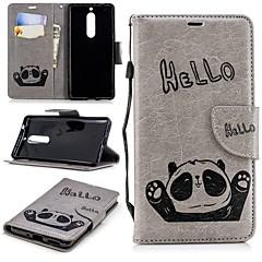 Недорогие Чехлы и кейсы для Nokia-Кейс для Назначение Nokia Nokia 5 / Nokia 3 Кошелек / Бумажник для карт / со стендом Кейс на заднюю панель Панда Твердый ТПУ для Nokia 5 / Nokia 3 / Nokia 1