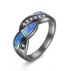 preiswerte Ringe-Damen Opal / Synthetischer Opal Hohl Statement-Ring / Verlobungsring - vergoldet Retro, Gothic, Zigeuner 6 / 7 / 8 Hellblau Für Halloween / Geschenk