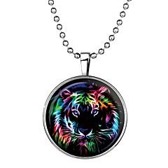 Недорогие Ожерелья-Муж. Светящийся камень Длиные Ожерелья с подвесками - Tiger Мультяшная тематика, Мода Синий 60 cm Ожерелье 1шт Назначение Halloween, Для клуба