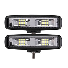 رخيصةأون مصابيح السيارة-otolampara 2 قطعة الأكثر شعبية 24w 2400lm 3030 16smd 6000k أدى ضوء العمل شريط