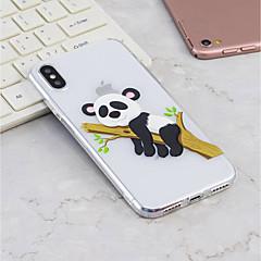 Недорогие Кейсы для iPhone 7-Кейс для Назначение Apple iPhone X / iPhone 8 Plus С узором Кейс на заднюю панель Панда Мягкий ТПУ для iPhone X / iPhone 8 Pluss / iPhone 8