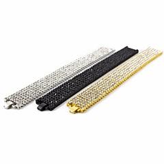 preiswerte Armbänder-Herrn Kubikzirkonia Stilvoll Armband - Kreativ Einfach, Modisch, Hyperbel Armbänder Gold / Schwarz / Silber Für Geschenk Strasse