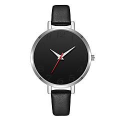 preiswerte Damenuhren-Geneva Damen Armbanduhr Chinesisch Neues Design / Armbanduhren für den Alltag / Cool Leder Band Freizeit / Modisch Schwarz