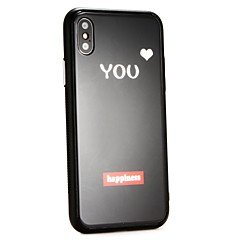 Недорогие Кейсы для iPhone-Кейс для Назначение Apple iPhone X С узором Кейс на заднюю панель Слова / выражения / С сердцем Твердый Закаленное стекло для iPhone X / iPhone 8 Pluss / iPhone 8