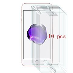 Недорогие Защитные плёнки для экранов iPhone 7 Plus-Защитная плёнка для экрана для Apple iPhone 7 Plus Закаленное стекло 10 ед. Защитная пленка для экрана Уровень защиты 9H / Защита от царапин