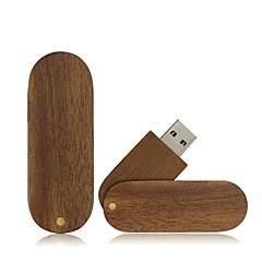 お買い得  USBメモリー-Ants 4GB USBフラッシュドライブ USBディスク USB 2.0 ウッド / 丈 回転