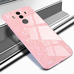 Недорогие Чехлы и кейсы для Huawei Mate-Кейс для Назначение Huawei Mate 10 pro / Mate 10 С узором Кейс на заднюю панель Мрамор Твердый Закаленное стекло для Mate 10 / Mate 10 pro / Mate 9