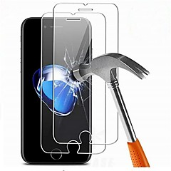 Недорогие Защитные плёнки для экранов iPhone 7 Plus-Защитная плёнка для экрана для Apple iPhone 7 Plus Закаленное стекло 2 штs Защитная пленка для экрана HD / Уровень защиты 9H / 2.5D закругленные углы