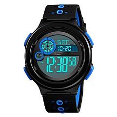 preiswerte Armbanduhren für Paare-SKMEI Armbanduhr Digitaluhr Sender Wasserdicht, Kalender, Chronograph Schwarz / Rot / Blau / Stopuhr / Nachts leuchtend