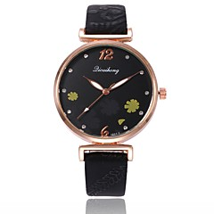 preiswerte Damenuhren-Damen Kleideruhr / Armbanduhr Chinesisch Neues Design / Armbanduhren für den Alltag / Imitation Diamant PU Band Freizeit / Modisch Schwarz / Weiß / Rot