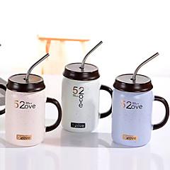 abordables Pajitas y mezcladores-Vasos Porcelana Pajitas / Taza Adorable 1 pcs
