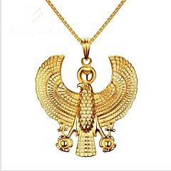 Недорогие Ожерелья-Муж. Стильные Ожерелья с подвесками - Титановая сталь Креатив Мода Cool Золотой 61 cm Ожерелье Бижутерия 1шт Назначение Вечеринка / ужин, Повседневные