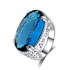 preiswerte Ringe-Damen Kubikzirkonia Stilvoll Solitär Ring - Kupfer Luxus, Klassisch 6 / 7 / 8 / 9 / 10 Hellblau Für Party Festtage